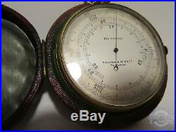 Richardson Adie Co Edinburgh Compensated Pocket Barometer Altimeter leather case
