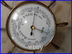 STOCKBURGER VTG Rare Barometer Millibars Brass Weather Marine Nautical Maritime