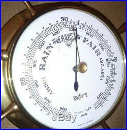 STOCKBURGER Vintage Barometer millibars brass weather marine nautical maritime