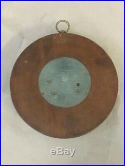 S. Roese Wismar Germany Barometer Ornate Carved Black Forest Wood Frame