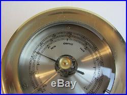 Seth Thomas Vintage Marine Brass Barometer Made In Taiwan