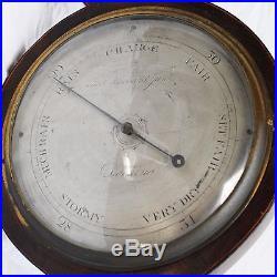Sheraton Shell Wheel/Bango Barometer -THOs HUBBARD JUNr-Dorking-parts or restore