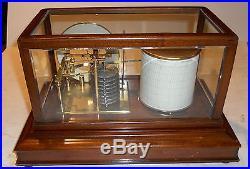 Short & Mason dial barograph (stormograph) with beveled glass, charts, ink