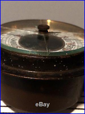 Small Vintage Barometer- Needs Repair- Beveled Glass- Hardwood Case- Low Price