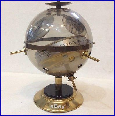 Sputnik Vintage Brass Thermometer Hygrometer Barometer