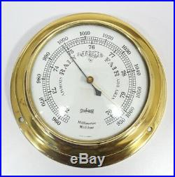 Stockburger barometer vintage millibars brass weather marine nautical maritime