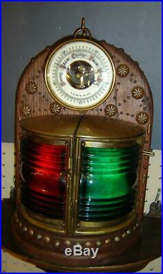 Superb Antique Marine Lantern With A S Aloe & Company Saint Louis Barometer Rare