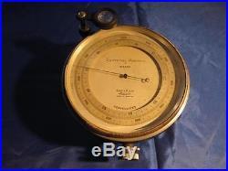 Surveying Aneroid Barometer London Short & Mason No. B 11454 Great original cond
