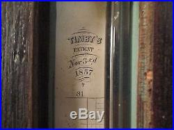 TIMBY'S BAROMETER DATED 1857