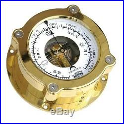 TRINTEC ODYSSEY ODY-04 Aneroid Barometer Solid Cast Polished Brass and lacquered