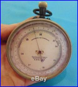 Taylor Instrument Rochester Compensated Temperature Altimeter Barometer No. 3544