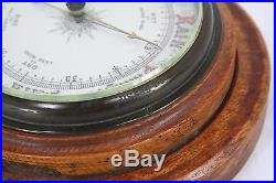 The Gossip Antique Vintage Round Wall Aneroid Barometer 7 Wood Portal Frame
