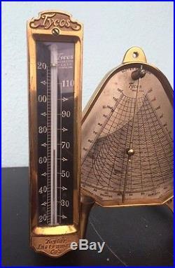 Tycos Lloyd's Hygrodeik Taylor Instrument Company Hygrometer Relative Humidity