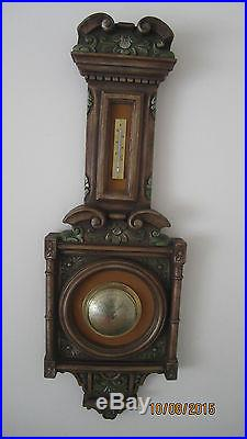 Unique Vintage Antique Victorian Selsi Company Barometer Thermometer Set Germany