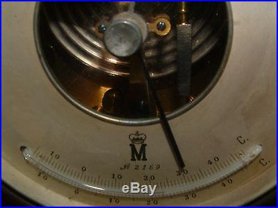 VERY RARE WORKING ANTIQUE HOLOSTERIK 1900's G. LUFFT BRASS BAROMETER/THERMOMETER