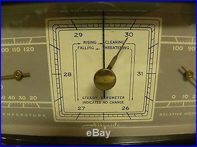 VINTAGE ADVERTISING AIRGUIDE TEMPERATURE AND RELATIVE HUMIDITY INSTRUMENT 5M