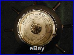 VINTAGE BRASS SCHATZ COMPENSATED PRECISION SHIPS BAROMETER THERMOMETER Germany