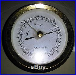 Vintage Marine Kelvin Hughes Barometer Brass