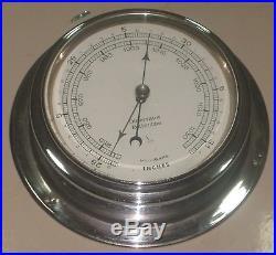 Vintage Marine Observer Barometer Of Brass
