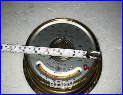 Vintage Marine Osaka Aneroid Barometer Made In Japan N0 6449 Year 1991