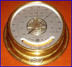 Vintage Marine Osaka Aneroid Barometer No 6449 Year 1991