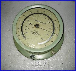 Vintage Marine Utsuki Keiki Aneroid Barometer Made In Japan Nice Condition