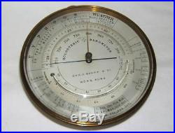 Very Rare Paul Naudet & Cie Holosteric Barometer for Chs. J. Gaupp Hong Kong