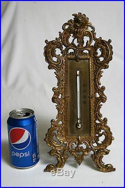 Victorian Bradley & Hubbard Thermometer gilded cast iron circa 1850's