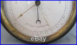 Victorian Brass Cased Aneroid Barometer by Dubois & Casse, France D(anchor)C