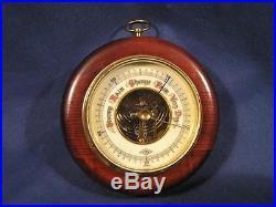 Vintagae Wood & Porcelain ATCO GERMANY 1651 Barometer