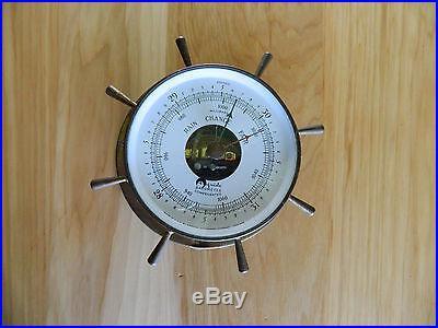 Vintage Airguide Barometer Compensated Ship Wheel Design