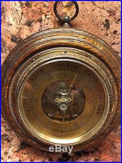 Vintage Aneroid Barometer (English)