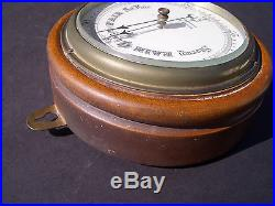Vintage Aneroid Barometer, Perry & Co, Bournemouth, England, Hardwood Case