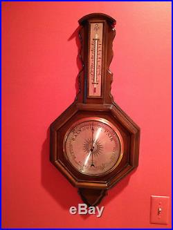 Vintage Antique P. F. Bollenboch Barrington, IL USA Wall Barometer Thermometer