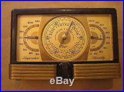 Vintage Art Deco Taylor Instrument Barometer Weather Station Bakelite desktop