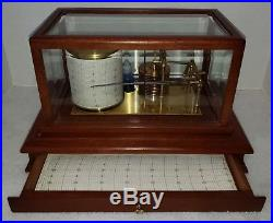 Vintage Barograph Harrods of London Mahogany Case, Beautiful Display Piece