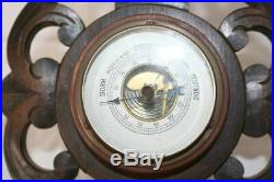 Vintage Black Forest Barometer With Thermometer