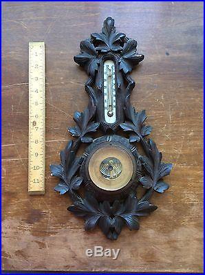 Vintage Black-Forest Style German Barometer, NR