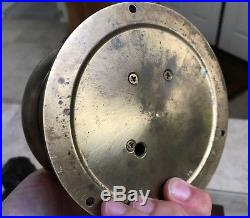 Vintage Brass Chelsea Ships Bell Clock 6 ww1 ww2 Barometer