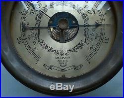 Vintage Brass Maritime Steamship Nautical Ship Precision Barometer