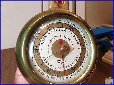 Vintage Brass Taylor Barometer-thermometer