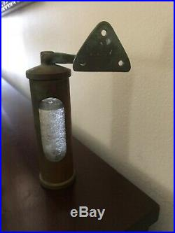 Vintage Castle Design Lunde Design Denmark Ships Brass Stormglass Barometer OLD