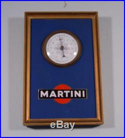 Vintage French Barometer with Italian Martini Advertising (D)