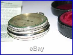Vintage GEBR, STUMP, & Co Interlaken Compensated Field BAROMETER with Leather Case