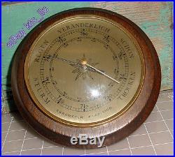 Vintage German Sturm Regen Veranderlich Schon Trocken WOOD cased Barometer