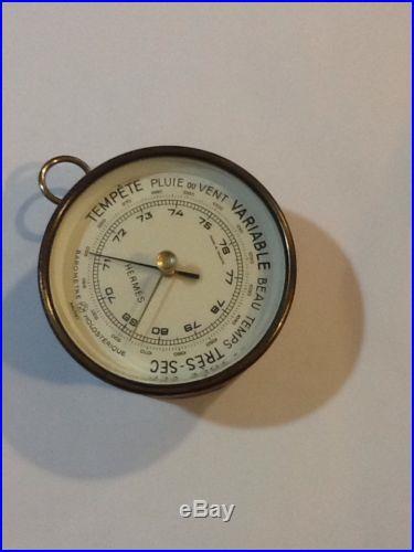 Vintage Hermes Paris Leather Covered Barometer
