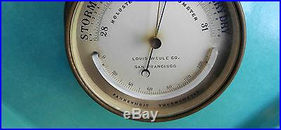 Vintage Louis Weule Co. S. F. Holosteric Barometer and Fahre. Therm. Made n Fran