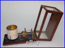 Vintage Mahogany Ships Marine Navigation Boat Weather Micro Barograph