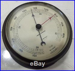 Vintage Marine Brass Barometer Kelvin & Hughes Ltd Made In England
