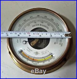 Vintage Marine Osaka Aneroid Barometer Made In Japan N0 3055 Year 1970